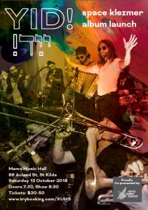 YID! Space Klezmer Album Launch @ Memo Music Hall | Saint Kilda | Victoria | Australia